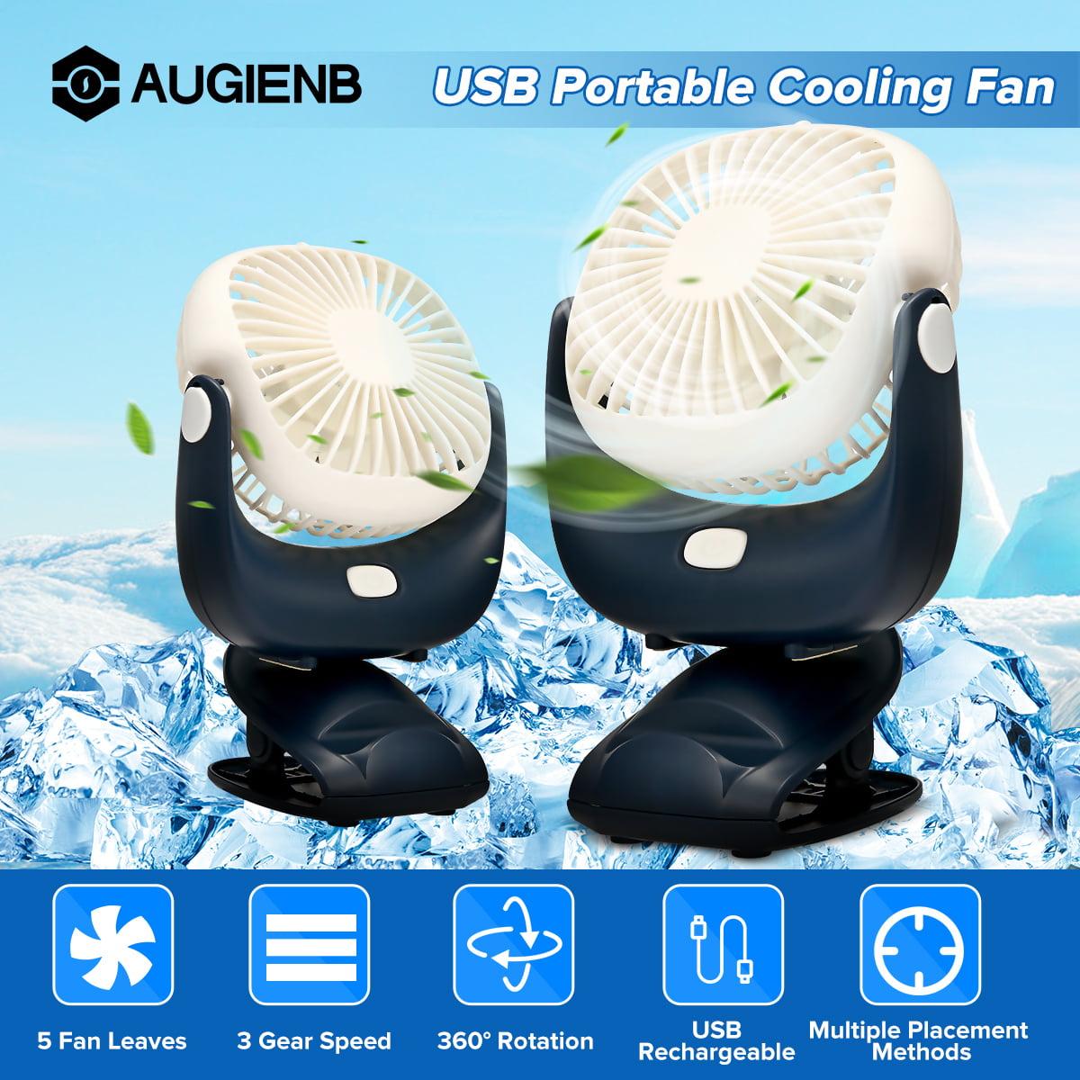 Air Cooling Fan Portable Mini Electric Fan USB Charging 13 Fan Leaves Noiseless Desktop Air Cooler Summer Equipment