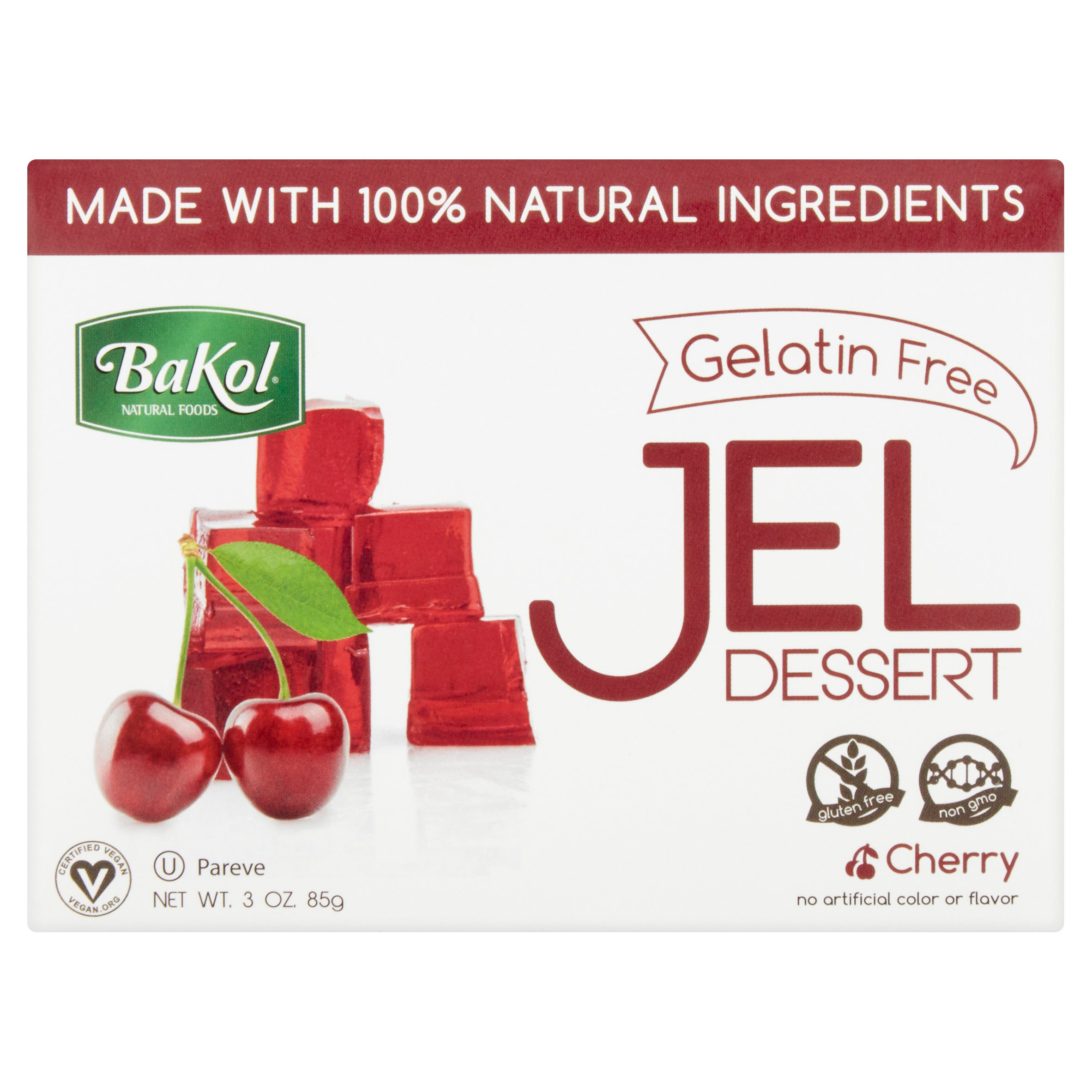 Bakol Natural Foods Cherry Jel Dessert, 3.0 oz by Bakol Foods