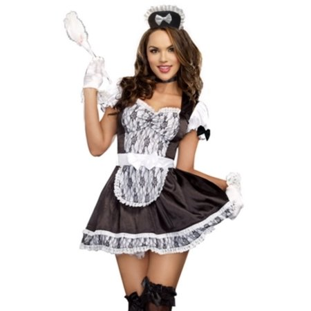 Trio Females Halloween Costumes You (Black/White Maid For You Costume Dreamgirl A9507)