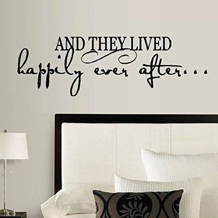 AND THEY LIVED HAPPILY EVER AFTER ~ WALL DECAL, HOME DECOR 10 5