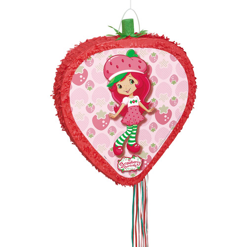 Strawberry Shortcake Pull-String Pinata, 20 x 16.5 in.