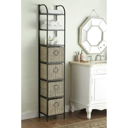 4D Concepts Windsor Wicker Drawer Bathroom Cabinet ()