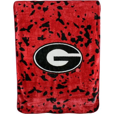College Covers NCAA Georgia Bulldogs Raschel Plush Throw Blanket