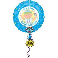 Baby Shower 'It's a Boy' Sing-a-Tune Supershape Foil Mylar Balloon (1ct)