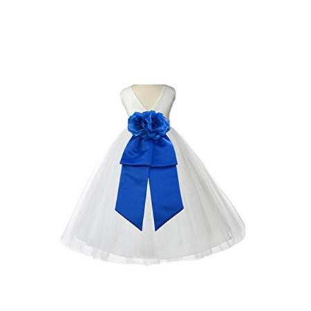924ce6dc8 Ekidsbridal Ivory V-Neck Tulle Flower Girl Dress Easter Summer ...