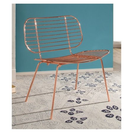 Abbyson Living Jenna Iron Accent Chair in Rose Gold