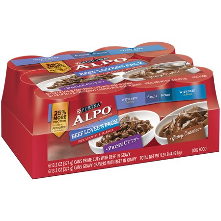 Purina Alpo Prime Cuts   Gravy Cravers Beef Lovers Dog Food Case Of 12  13 2 Oz  Cans