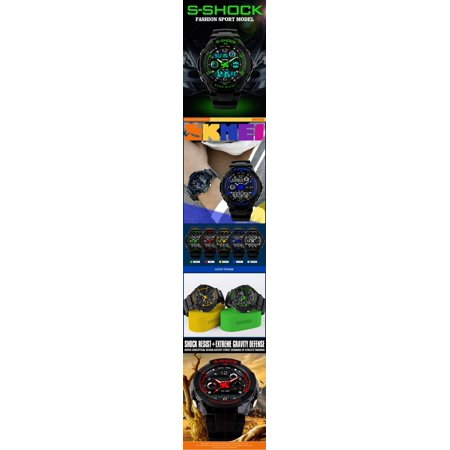 Digital Military Water and Shock Resistant Men's Watch by SKMEI -Wrist Watch Dual Time Stop watch - image 1 of 4