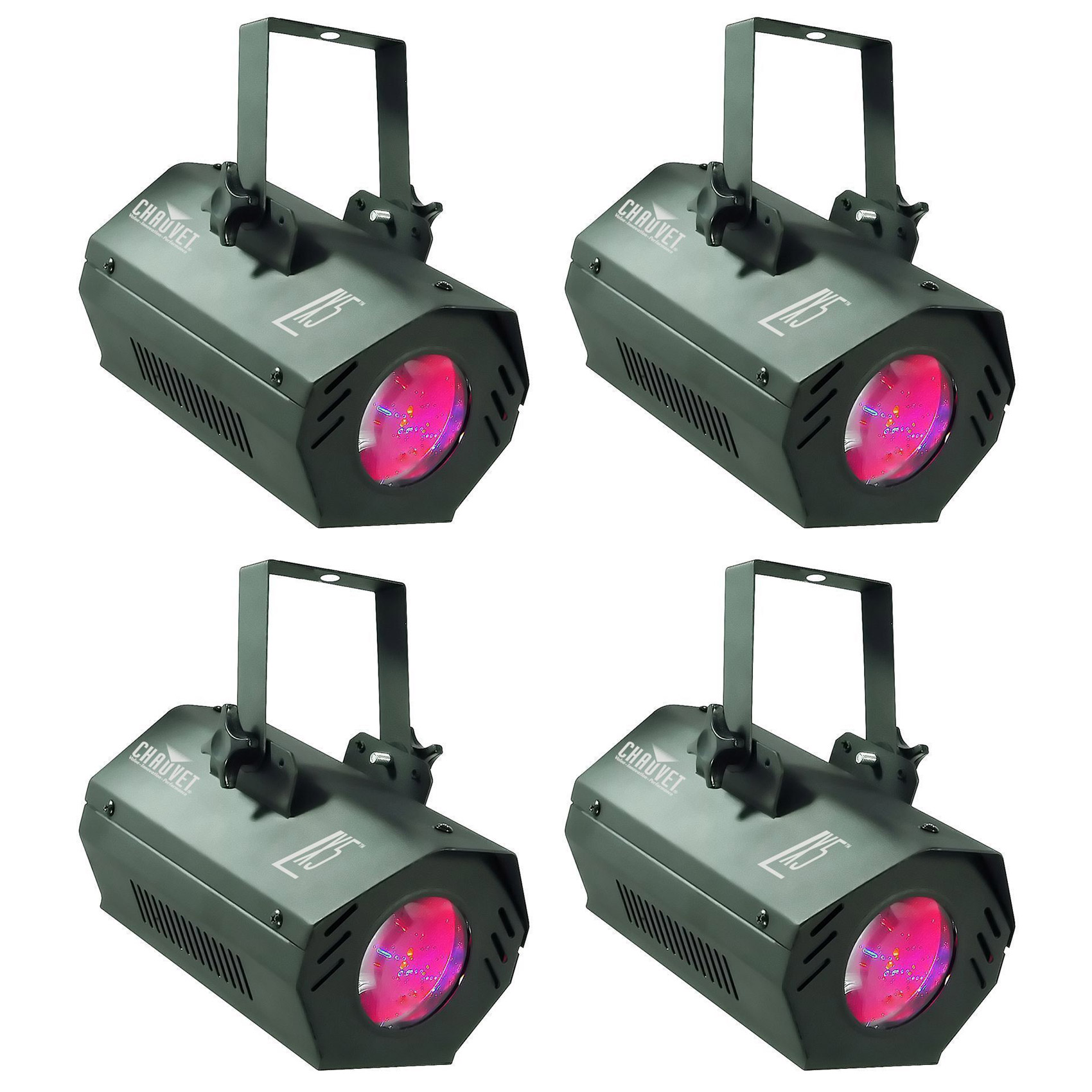 4) Chauvet DJ LX5 Moonflower Sound Activated Dance Club M...