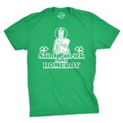 mens saint patrick is my homeboy tee funny st. paddy's day t shirt (green) - xl