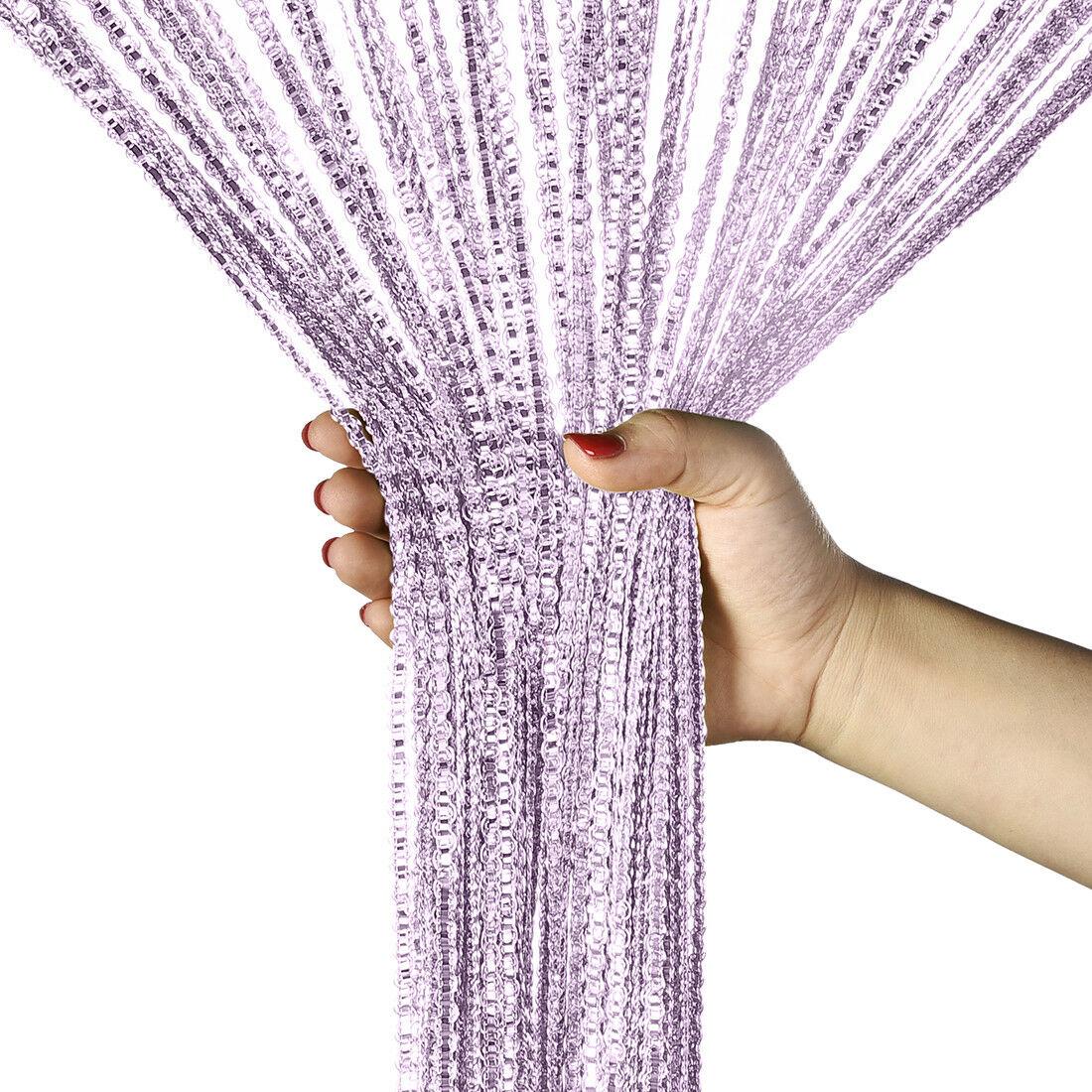 Door String Curtain Room Divider Panel Window Tassel Fringe Beads Fly Screen