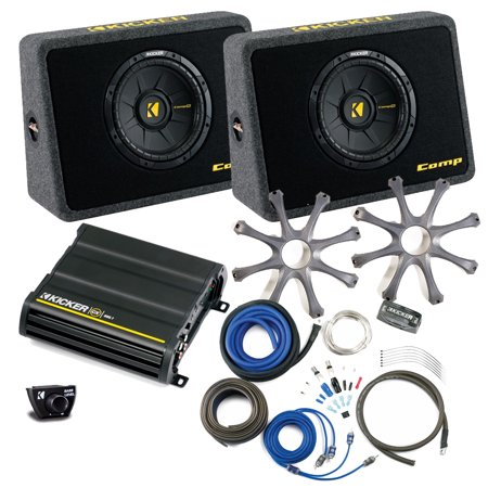 kicker bass package two 10 comps in ported truck boxes. Black Bedroom Furniture Sets. Home Design Ideas