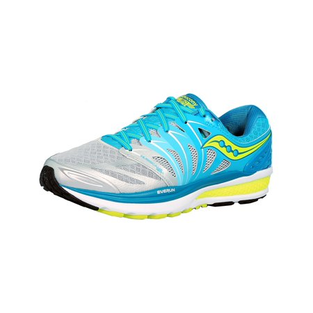 Saucony Women's Hurricane Iso 2 Blue/Silver/Citron Ankle-High Running Shoe -