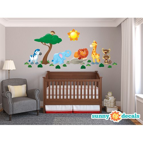 Sunny Decals Jungle Fabric Wall Decal