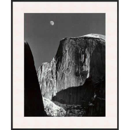 Moon and Half Dome, Yosemite National Park, 1960 Framed Art Print Wall Art  - 27.5x32.5 ()