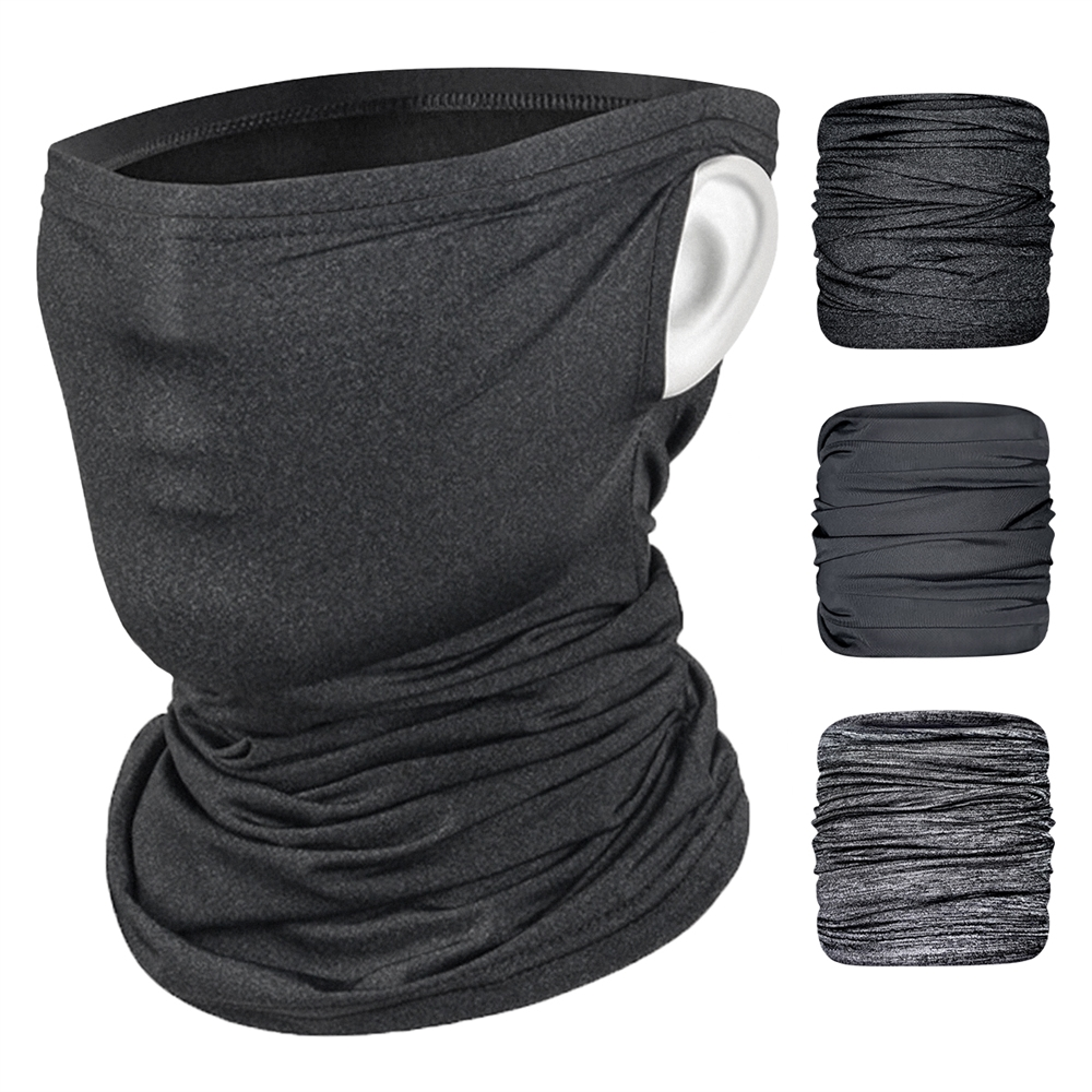 Face Cover Bat-Man Logo Print Balaclava Unisex Reusable Windproof Anti-Dust Mouth Bandanas Outdoor Camping Motorcycle Running Neck Gaiter with 2 Filters for Teen Men Women