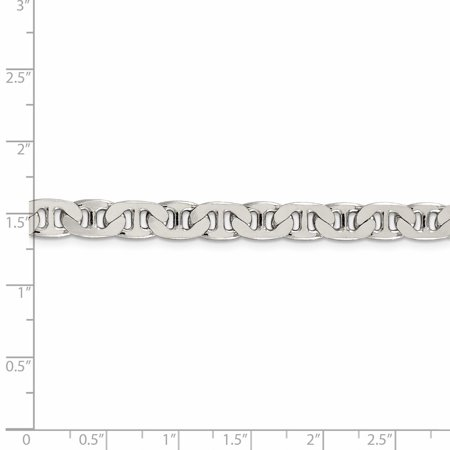 925 Sterling Silver 6.5mm Anchor Chain 22 Inch - image 2 de 5