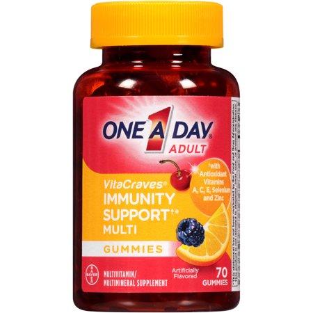One A Day VitaCraves - Inmunidad apoyo de los adultos multivitamínicos Gomitas 70 hojas
