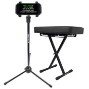 Rockville RKB61 Thick Padded Foldable Keyboard Bench w/Quick-Release+iPad Stand