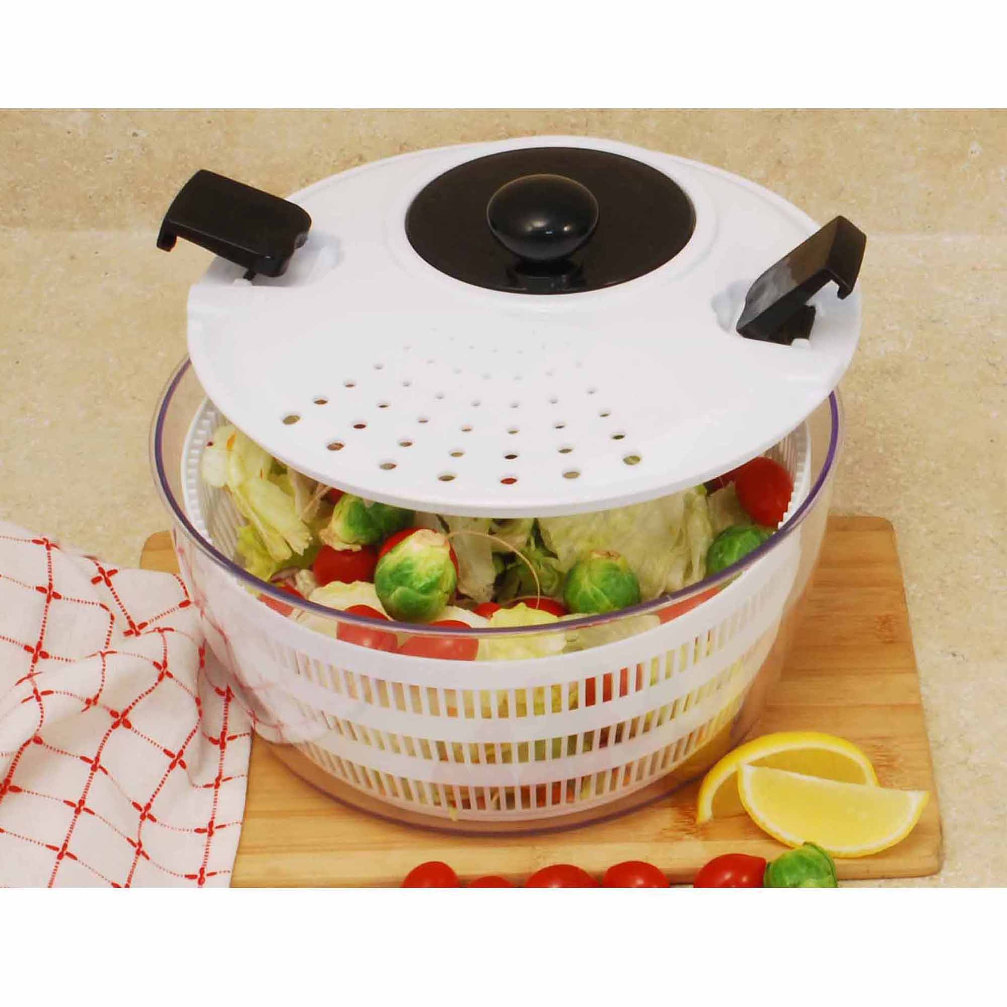 Cook Pro Plastic Salad Spinner with Locking and Straining Lid