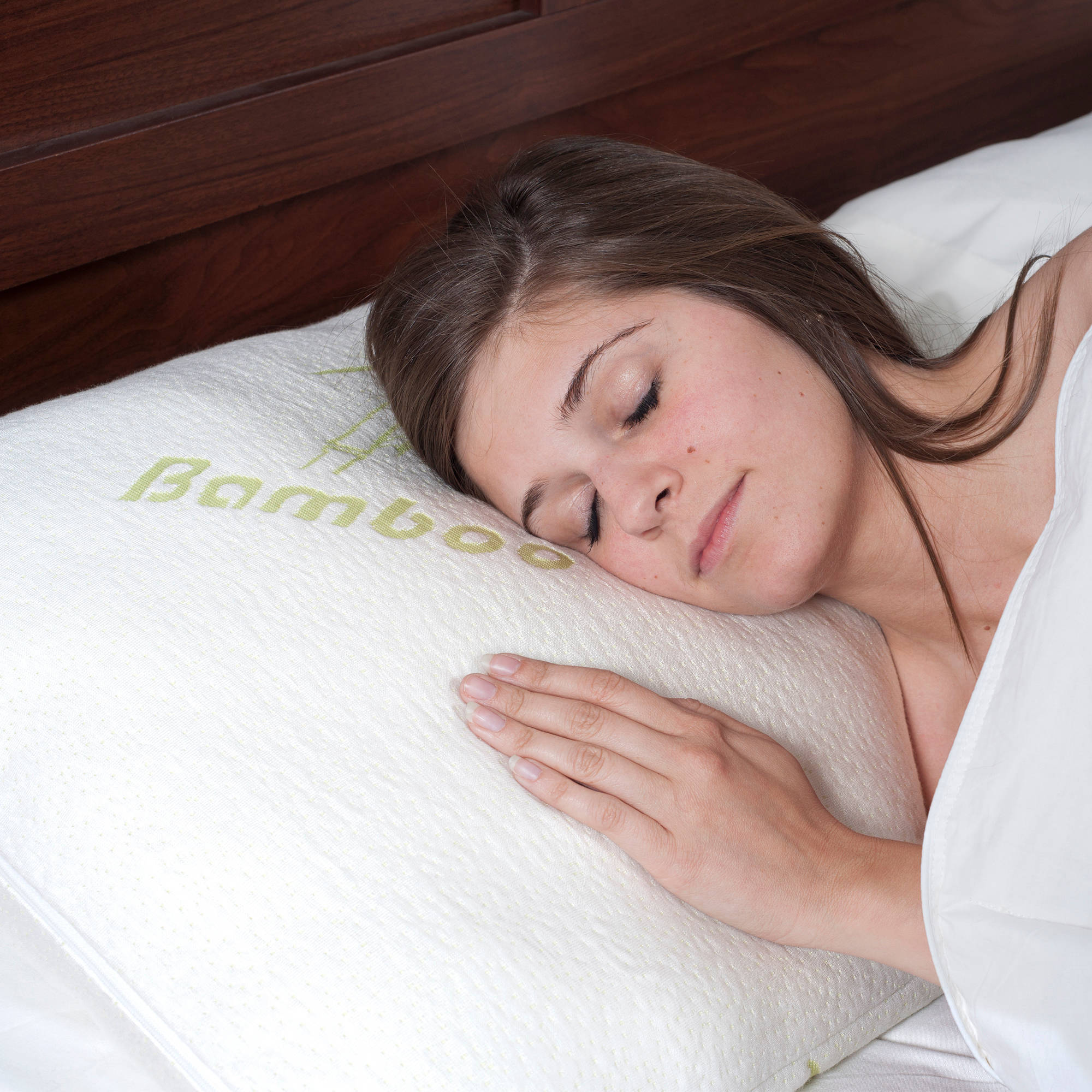 memory foam pillow pillow cover bamboo from rayon bed pillows for comfort and support by lavish home walmartcom