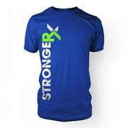 Stronger RX Blue Superblend Men Tee Shirt, Extra Large