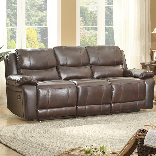 Homelegance Allenwood Leather Double Reclining Sofa