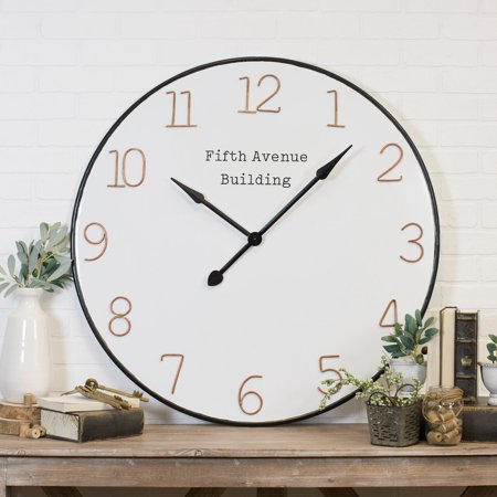 American Mercantile Fifth Avenue Building 36 in. Wall Clock ()