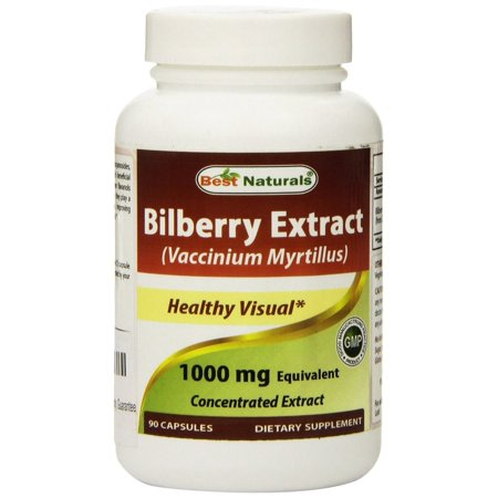 Best Naturals Bilberry Extract 1000 mg, 90 Ct (Bilberry Liquid Extract)