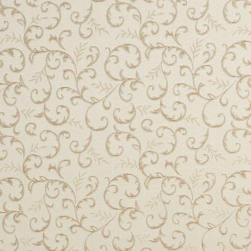 E642 Abstract Floral Ivory Silver Damask Upholstery Fabric By The Yard By The Yard