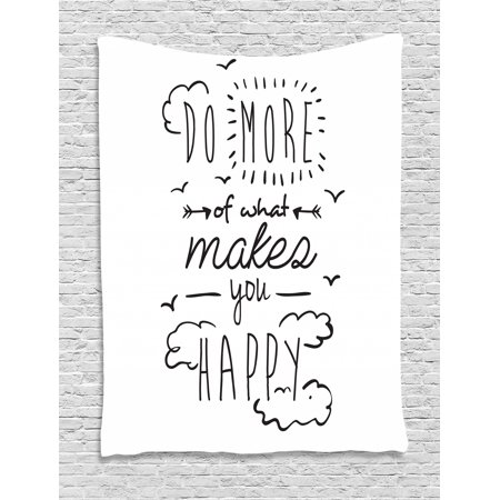 Quotes Tapestry Do More Of What Makes You Happy Clouds