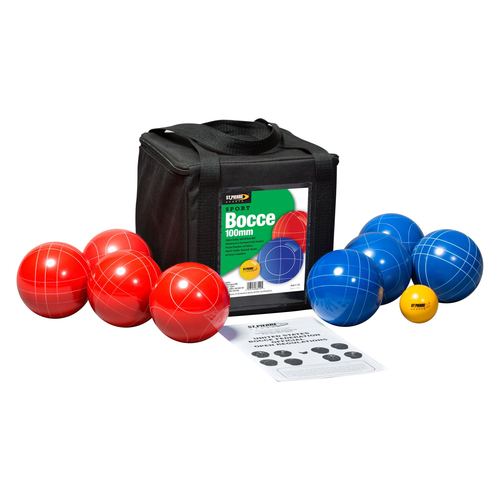 St. Pierre Sport Bocce Set with Nylon Bag