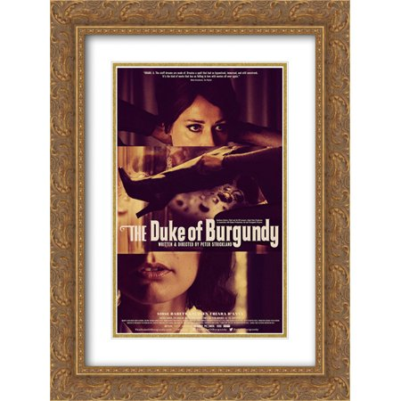 The Duke of Burgundy 18x24 Double Matted Gold Ornate Framed Movie Poster Art Print Burgundy Gold Art Print