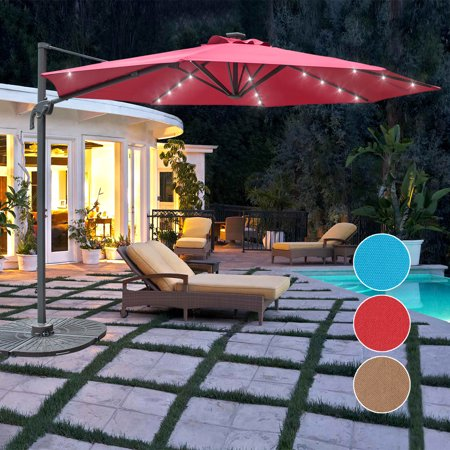 Lighted Umbrella For Patio Stunning Sundale Outdoor 60FT Solar Powered 60 LED Lighted Umbrella Hanging