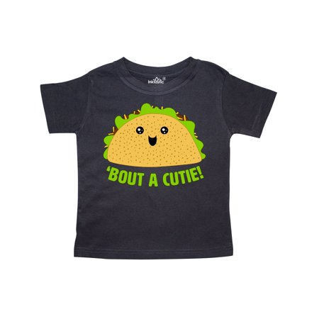 Taco Bout a Cutie Cute Taco Pun Toddler - Cutie Pie Top Shirt