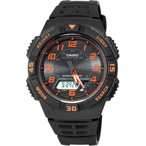 Casio Men's Slim Solar-Powered Watch, Resin Band
