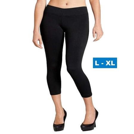Seamless Capri Leggings - Women Seamless Basic Stretch Capri Leggings Large X-Large