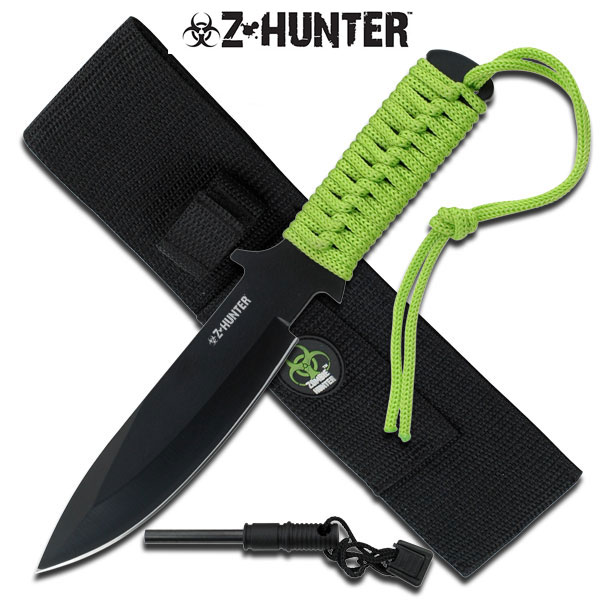 Zombie Hunter Full Tang Fire Starter Hunting Camping Knife by