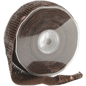 Square Sequin Trim 40mm X 15.95 Yards-Brown Multi-Colored
