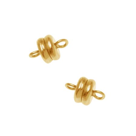 Magnetic Clasp, 6x4.5mm, 36 Set Bulk Pack, 22K Gold - Magnetic Clasps For Jewelry