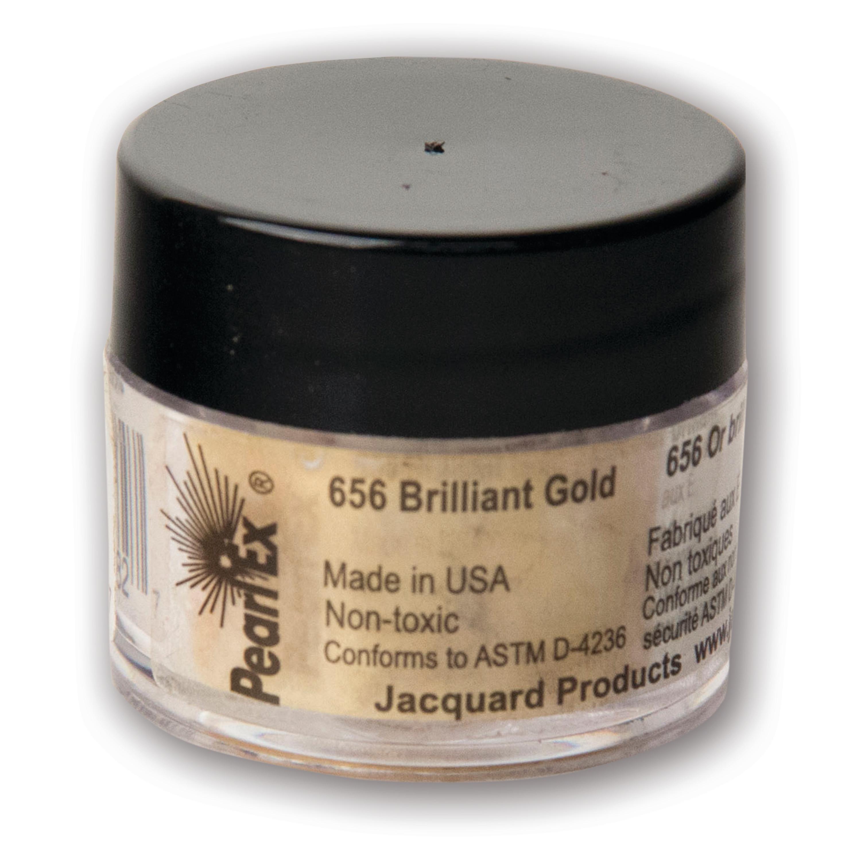 Jacquard Pearl Ex Pigment, 3g, Brilliant Gold