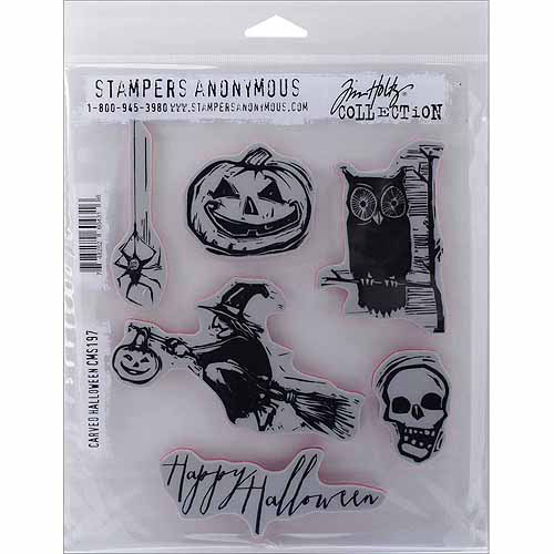 "Tim Holtz Cling Rubber Stamp Set, 7"" x 8.5"""