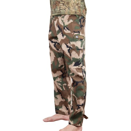 LELINTA Mens Cargo Pants Vintage Paratrooper Cargo Pants Woodland Camo BDUs Hunting (Vintage Mens Pants)