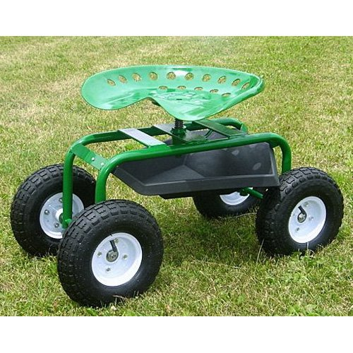 Mid West Garden Caddy Tractor Seat on Wheels Walmartcom