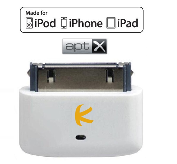 KOKKIA i10s_aptX_white (White) : Tiny Bluetooth iPod Transmitter with aptX for iPod/iPhone/iPad