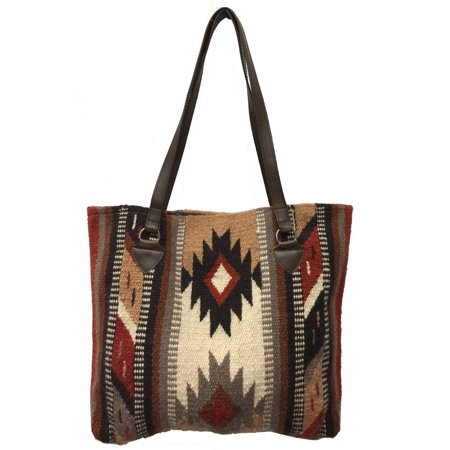 - Maya Ladies Tote Purse Handwoven Southwestern Wool Handbag  Zapotec Design
