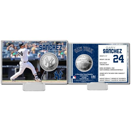 Gary Sanchez New York Yankees Highland Mint Mint Player Silver Collector Coin Card - No Size
