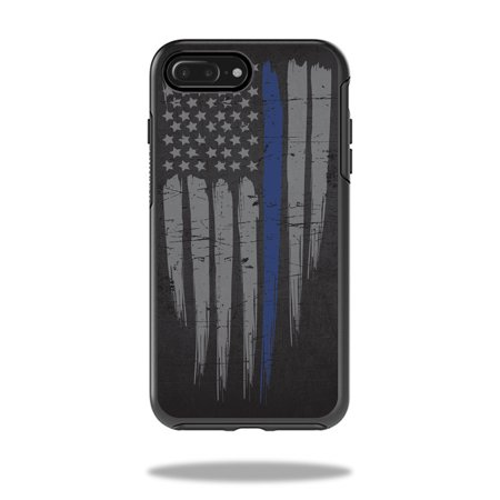 san francisco 7390d debd1 Skin Decal Wrap for OtterBox Symmetry iPhone 7 Plus Case Thin Blue Line