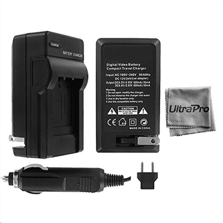 UltraPro Canon EOS 60D Digital Camera Battery Charger (110/220v with Car & EU adapters) - UltraPro Replacement Charger for Canon LP-E6 Battery