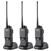 SAMCOM FPEN10A 20 Channels GMRS 2 Way Radio with Group Function, UHF Long Range Handheld Walkie Talkie 2 Watts (3 Packs,Black)